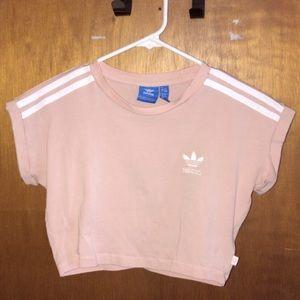Adidas pink crop top